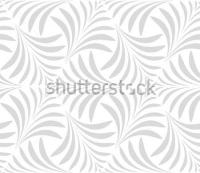 Naklejka Wzór. Kwiatowy stylowy tło. Szary i biały ornament. Graficzny, nowoczesny wzór.