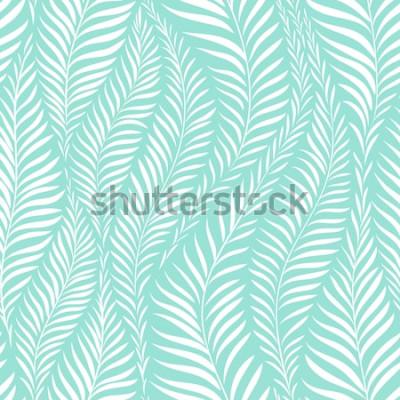 Naklejka Wzór liścia palmy. Ilustracji wektorowych. Element dekoracyjny
