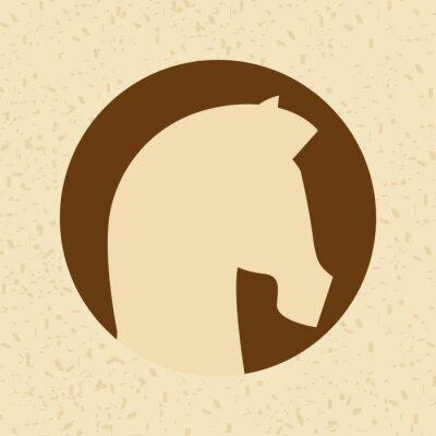Naklejka wzór sylwetka konia