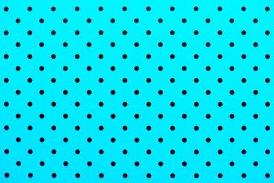 Naklejka wzór tapety czarne kropki w kolorze turkusowym tle