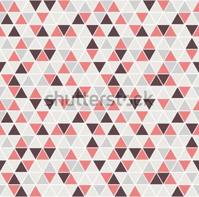 Naklejka Wzór trójkąta bez szwu. Tło wektor. Geometryczne streszczenie tekstura