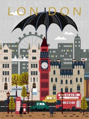 Naklejka wzrok Wielka Brytania podróży do plakatu