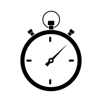 Naklejka Простая иконка секундомера. Векторная иллюстрация для Ваших проектов.
