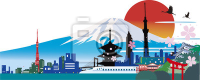 Naklejka 日本 の ラ ン ド マ ー ク