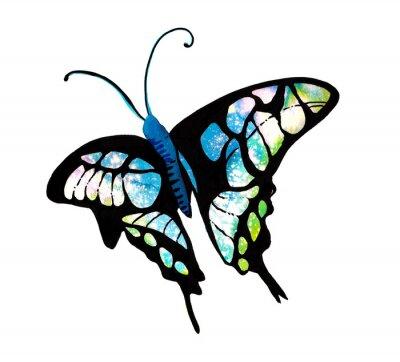 Naklejka 수채화 타이 다이 기법 으로 표현한 나비