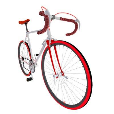 Naklejka Велосипед на белом фоне