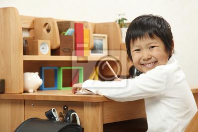 学習 机 の 男の子