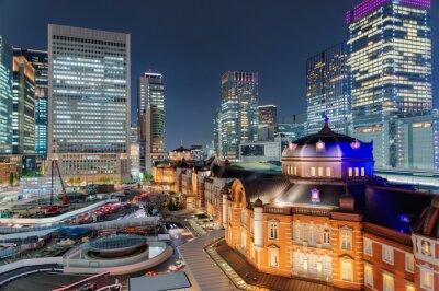 Naklejka 東京 駅 夜景
