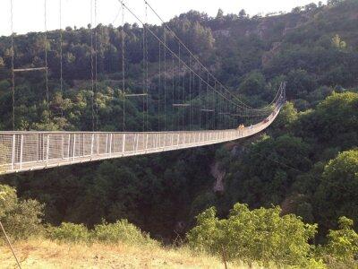 Naklejka Подвесной мост