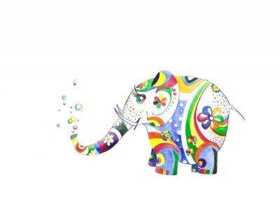 Naklejka Цветной слонёнок