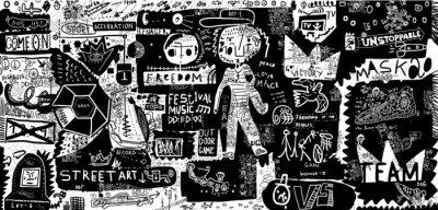 Naklejka граффити