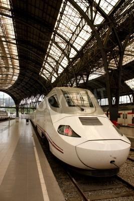 Naklejka Alvia stacji kolejowej we Francji, Barcelona, Hiszpania