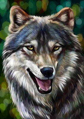 Naklejka Волк