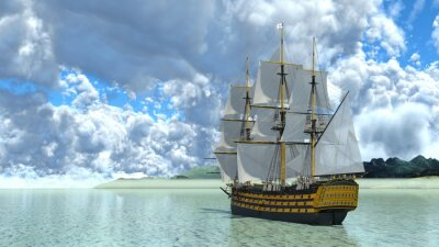Naklejka 帆船
