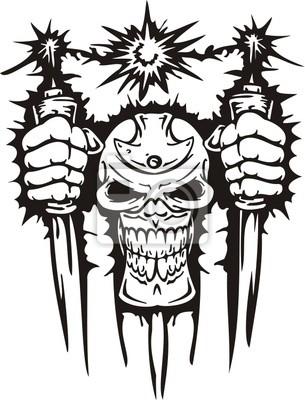 Cyber Skull - ilustracji wektorowych.
