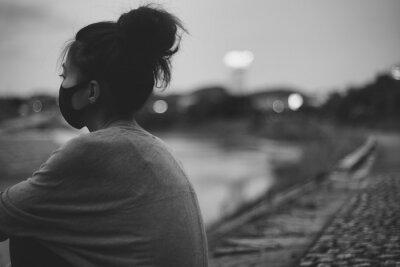 Naklejka 孤独な女性