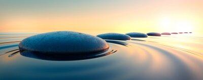 Naklejka Steine im Wasser 3