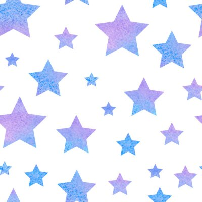 Naklejka watercolor сute seamless pattern night sky for the textile fabric or wallpaper.