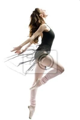 young wonderful ballerina tańczy z wdziękiem
