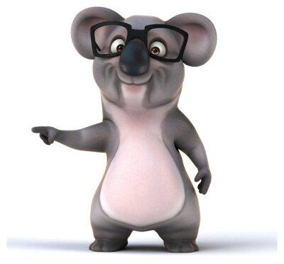 Naklejka Zabawa koala