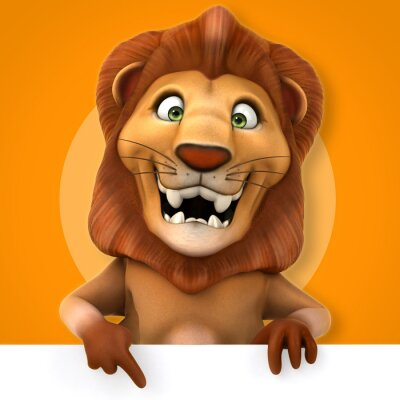 Naklejka Zabawa lew