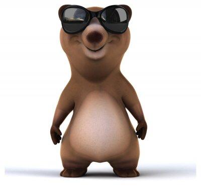 Naklejka Zabawa niedźwiedź