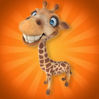 Naklejka Zabawa żyrafa