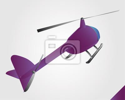 Zabawka helikopter fioletowe w lotu wektora