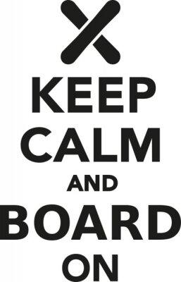 Naklejka Zachowaj spokój i deska do snowboardu