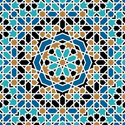 Naklejka Zagora Seamless Pattern Trzy