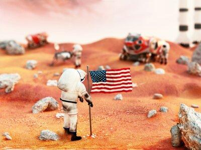 Naklejka Załogowych misji na Marsa