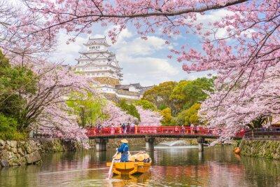 Naklejka Zamek Himeji, Japonia wiosną