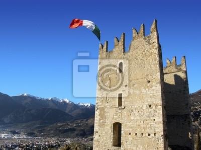 Zamek w Arco, Włochy - Jezioro Garda - Trento - Europa