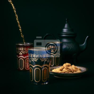 Zamyka up tradycyjna marokańska herbata