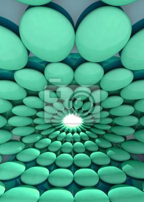 zaokrąglone pomarańczowy zielony cell center fajne tło lub szablon