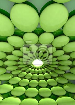 zaokrąglone zielone komórki fajne tło lub szablon