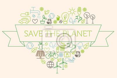Naklejka Zapisz planetę, ekologia, baner