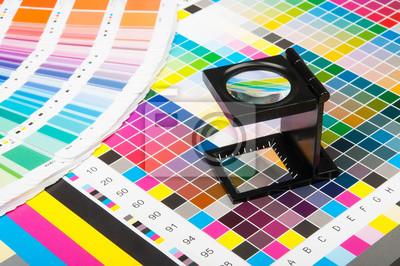 Naklejka Zarządzanie kolorem w druku produkcji