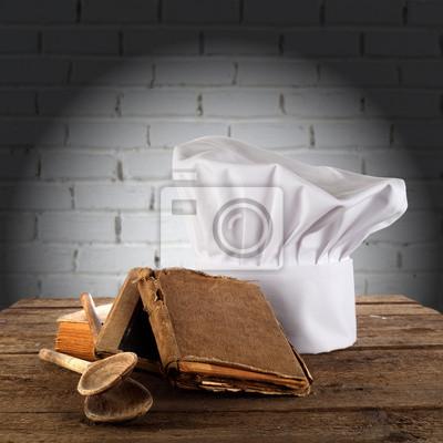Naklejka zdjęcie kuchni czapce