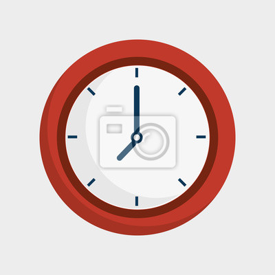 Naklejka Zegar czasu ikona izolowane ilustracji wektorowych projektowania