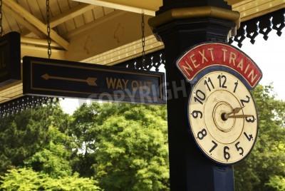 Naklejka Zegar stacji
