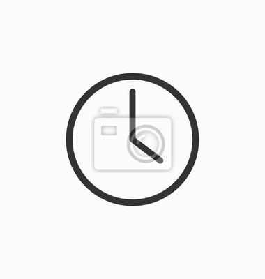 Naklejka Zegar wektor ikona