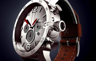 Naklejka zegarek odizolowane na czarno