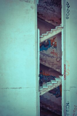Naklejka Zepsute schody