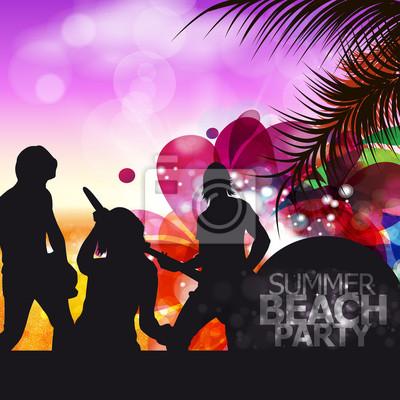 Naklejka Zespół Beach Party