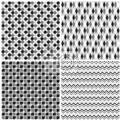Zestaw 4 Wzory Geometryczne Naklejki Na Laptopa Naklejki Na ścianę