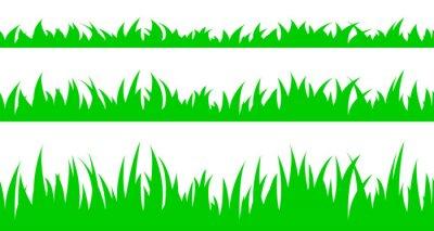 Naklejka Zestaw bez szwu trawy.