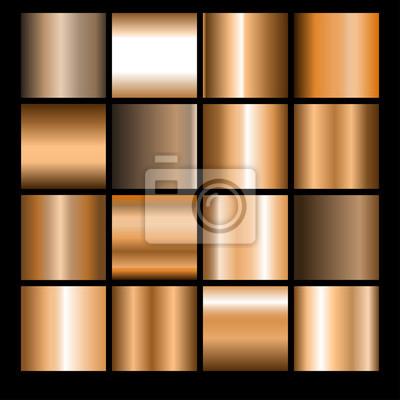 Naklejka Zestaw brązowych gradientów