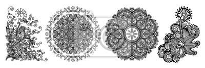 zestaw dekoracyjny ornament koła z koronki