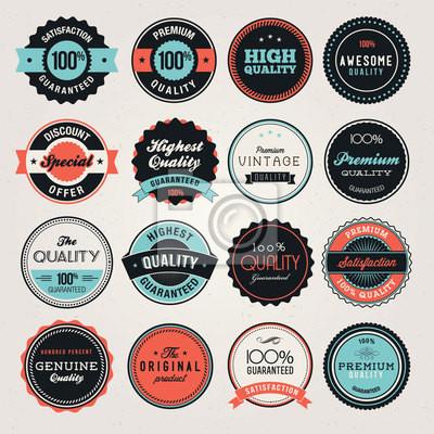 Zestaw etykiet i odznak biznesowych i